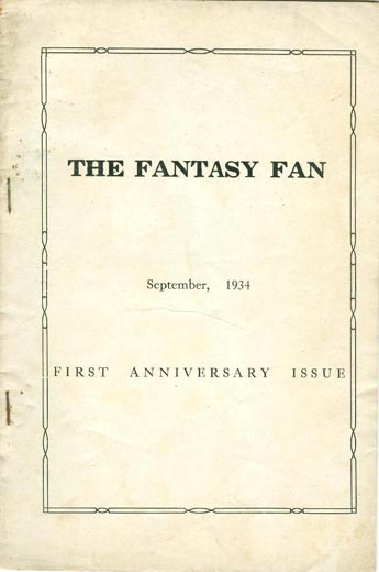The Fantasy Fan Volume 2 Number 1 (Whole No. 13)