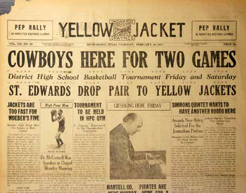 The Yellow Jacket Volume XIII Number 20