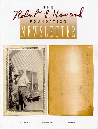 Robert E. Howard Foundation Newsletter Volume 2 Number 2