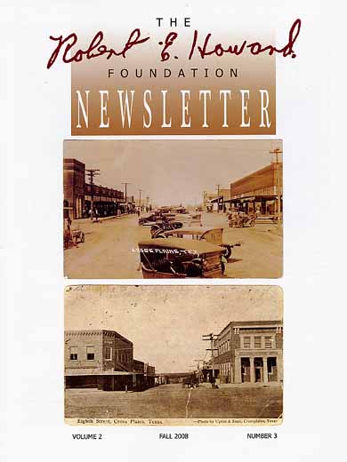 Robert E. Howard Foundation Newsletter Volume 2 Number 3