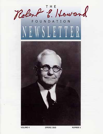 Robert E. Howard Foundation Newsletter Volume 4 Number 1