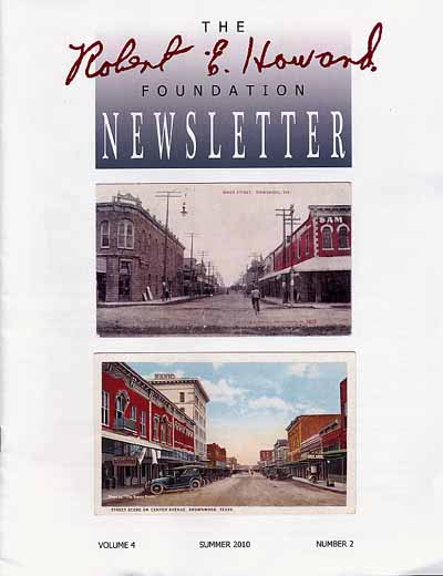Robert E. Howard Foundation Newsletter Volume 4 Number 2