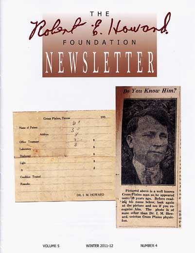 Robert E. Howard Foundation Newsletter Volume 5 Number 4