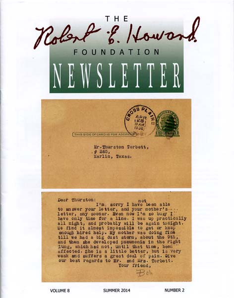 Robert E. Howard Foundation Newsletter Volume 8 Number 2